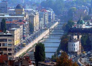 "Sarajevo River ""Miljacka"" View"